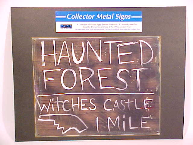 Picture of Oz Haunted Forest Sign Back Board J-Hook