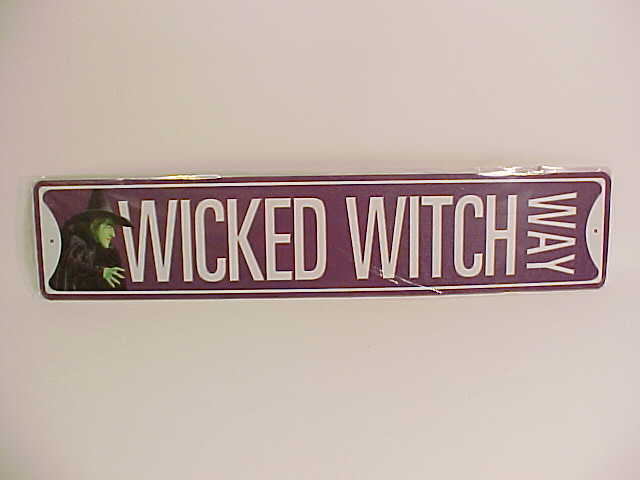 "Picture of Wizard of Oz tin sign ""Wicked Witch Way"