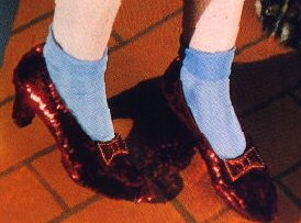 Ruby Slippers worn by Dorothy